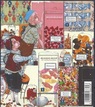 Belgium Historic Candy & Sweets Shop - Sheet 5vals - 2011 - Bonbons - Snoepwinkel - photo