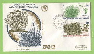 French Antarctic Territory 1987 Plants Issue First Day Cover photo
