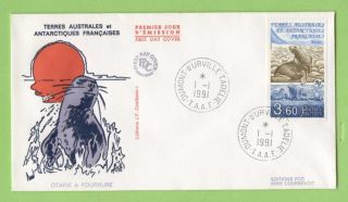 French Antarctic Territory 1991 Fur Seals First Day Cover photo