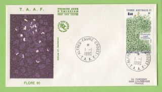 French Antarctic Territory 1990 Plants Issue First Day Cover photo