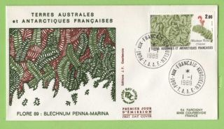 French Antarctic Territory 1989 Plants Issue First Day Cover photo