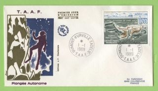 French Antarctic Territory 1989 Diving Issue First Day Cover photo