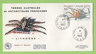 French Antarctic Territory 1989 Crab First Day Cover photo