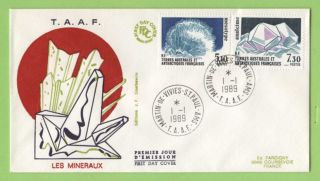 French Antarctic Territory 1989 Crystals Issue First Day Cover photo