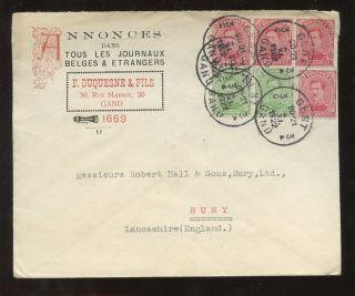 Advertising 1922 2 Colour Illust.  Cover Belgium To Gb. . .  E.  Duquesne photo