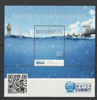 565.  Hungary 2013.  Budapest Water Summit Issue S/s photo