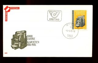 Austria 1976 Millenary Of Carinthia Fdc C3075 photo