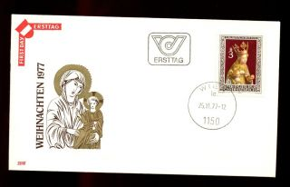 Austria 1977 Christmas Fdc C3076 photo