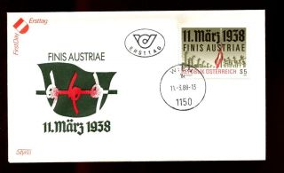Austria 1988 50th Anniv Of Annexation Fdc C3079 photo