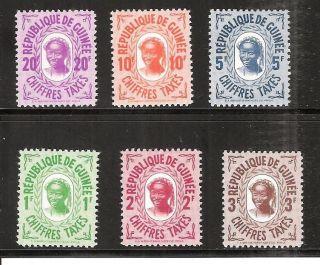 Guinea J36 - J41 Postage Dues photo