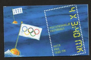 Finland Scott 1008a Complete Booklet - Olympics (1996) photo