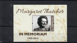 The Gambia 2013 Margaret Thatcher In Memoriam 1v S/s Death People photo