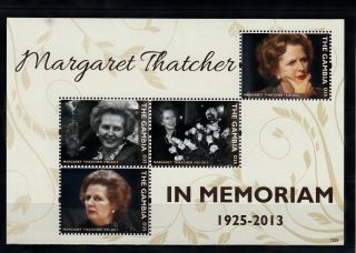 The Gambia 2013 Margaret Thatcher In Memoriam 4v M/s Death People photo