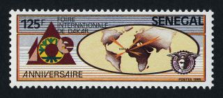 Senegal 761 Map,  Dakar International Fair photo