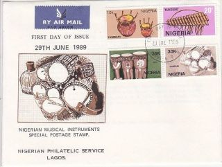 Nigeria - Arts,  Music Instruments,  Fdc 1989 photo