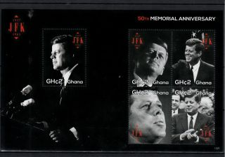 Ghana 2013 John F Kennedy 50th Memorial Anniversary 5v M/s Jfk Us President photo