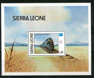 Sierra Leone 1986 The Pennsylvania Broadway Train Miniature Sheet Sg Ms 945 photo