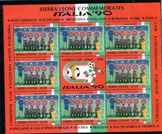 Sierra Leone 1990 Italy World Cup Sheetlet Soviet Union Team photo