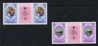 Ghana 1981 Royal Wedding Revalued In Silver Pair In Tab Gutter Pairs Scarce photo
