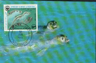 (72294) Maxicard - Mauritania - Seal - 1986 photo