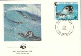 (72296) Fdc - Mauritania - Seals - 1986 photo