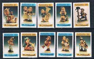 Tanzania 1994 Hummel Figurines Sg 1726/35 photo