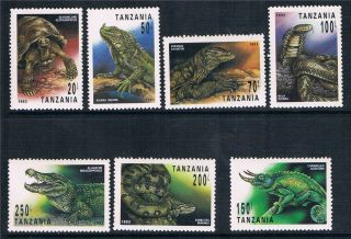Tanzania 1993 Reptiles Sg 1528/34 photo