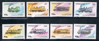 Tanzania 1991 Phila Nippon Locomotives Sg 938/45 photo