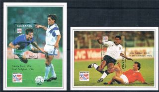 Tanzania 1994 World Cup Football Ms (2) Sg 1753 photo