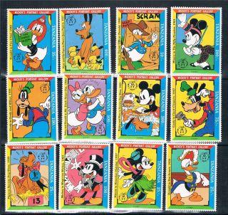 Tanzania 1992 Mickeys Portrait Gallery Sg 1413/24 photo