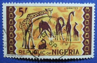 1966 Nigeria 5s Scott 195 S.  G.  183 Cs06004 photo