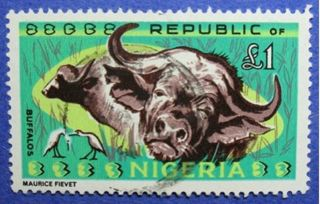 1966 Nigeria 1p Scott 197 S.  G.  185 Cs06007 photo