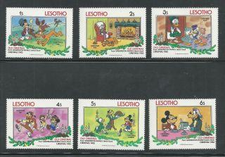 Lesotho 412 - 417 Disney,  Christmas 1983 Old Christmas Mickey Goofy Donald photo