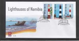 Namibia 2010 Fdc Lighthouses First Day Cover Swakopmund Pelican Point Walvis Bay photo