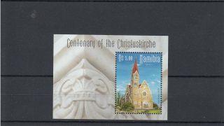 Namibia 2010 Centenary Of Christuskirche 1v Sheet Churches Anja Dekker photo