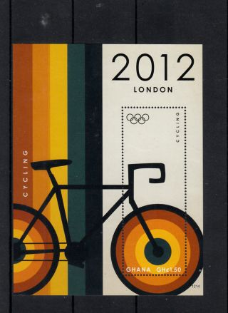 Ghana 2012 London Olympics 4v On 4 Diff M/s Basketball Swimming Cycling photo