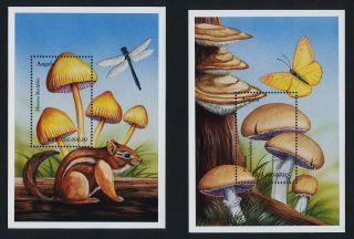 Angola 1104 - 5 Butterflies,  Mushrooms photo