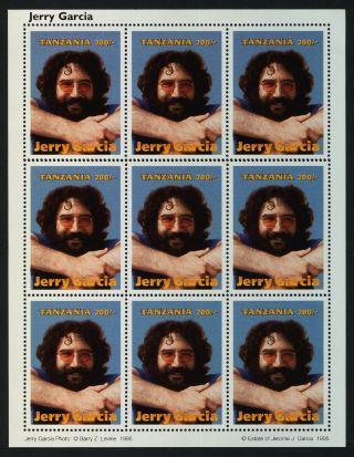 Tanzania 1412 Sheet Jerry Garcia,  Music photo