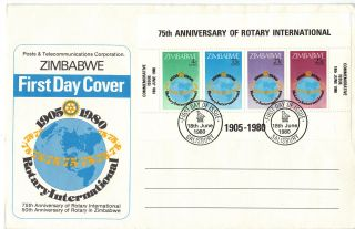 Zimbabwe 1980 Rotary Mini Sheet First Day Cover Ref:cw541 photo