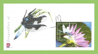 Namibia 2007 Dragonfly/ Flower Miniature Sheet On First Day Cover photo