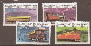 Ghana Sg868/71 1978 Trains photo