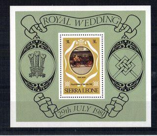Sierra Leone 1981 Royal Wedding 3l Miniature Sheet photo