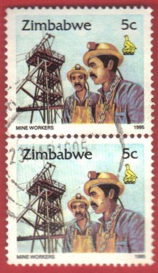 Zimbabwe Stamp Scott 724 Vertical Pair Stamp See Photo photo