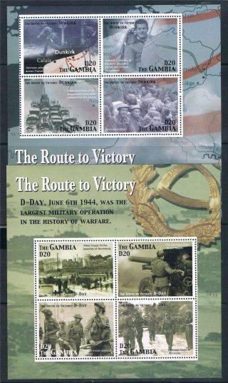 Gambia 2005 Route To Victory 2x Sheet Sg 4854 - 61 photo