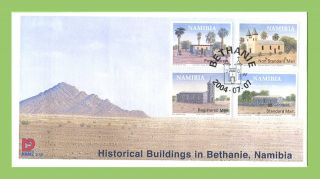 Namibia 2004 Historical Buildings In Bethanie First Day Cover photo