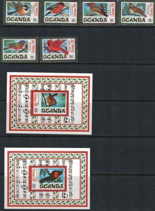 Uganda 1998 Sc 1570 - 1577 Birds Christmas photo