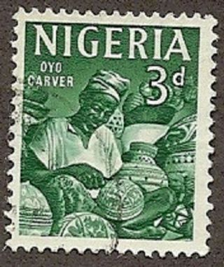 Nigeria Scott 105,  Oyo Carver,  3p, ,  1961 photo