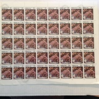 Burkina Faso Stamp Scott 749c Sheet - Cancelled Of Botticelli