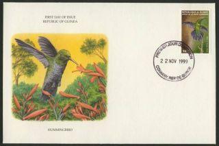 Guinea 1584c On Fdc Birds photo