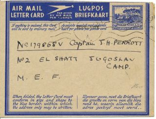South Africa/südafrika Airletter From May 1944 photo